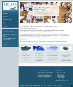 Die neue Website der Rhein S.Q.M. GmbH Qualitätsakademie